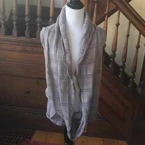Taupe Knitted Sweater Vest
